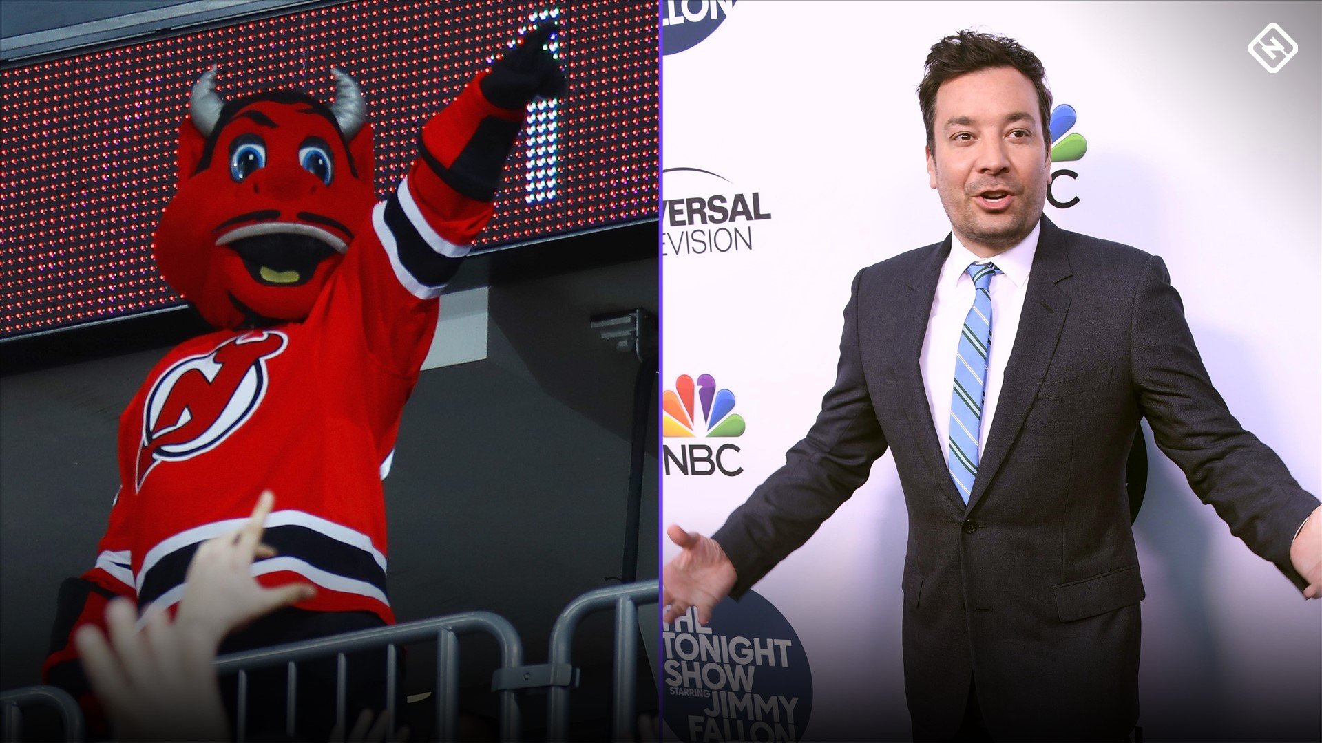 Jimmy Fallon accepts bet from New Jersey Devils' mascot . . . and loses