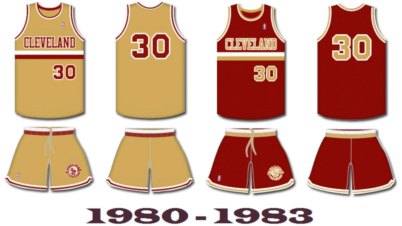 d286ceb5931 Cleveland Cavaliers uniform history: Wine and gold, black and blue |  Sporting News