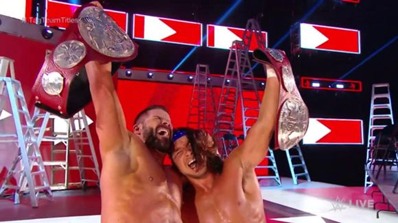 WWE, ロウ, #1333, ロウ・タッグ王座戦
