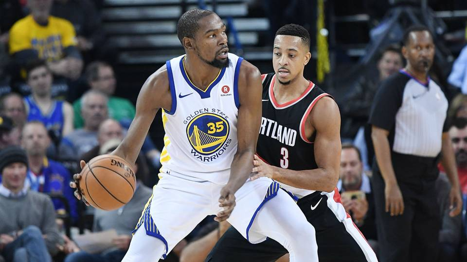 Kevin Durant ruthlessly roasts Trail Blazers on CJ McCollum's podcast