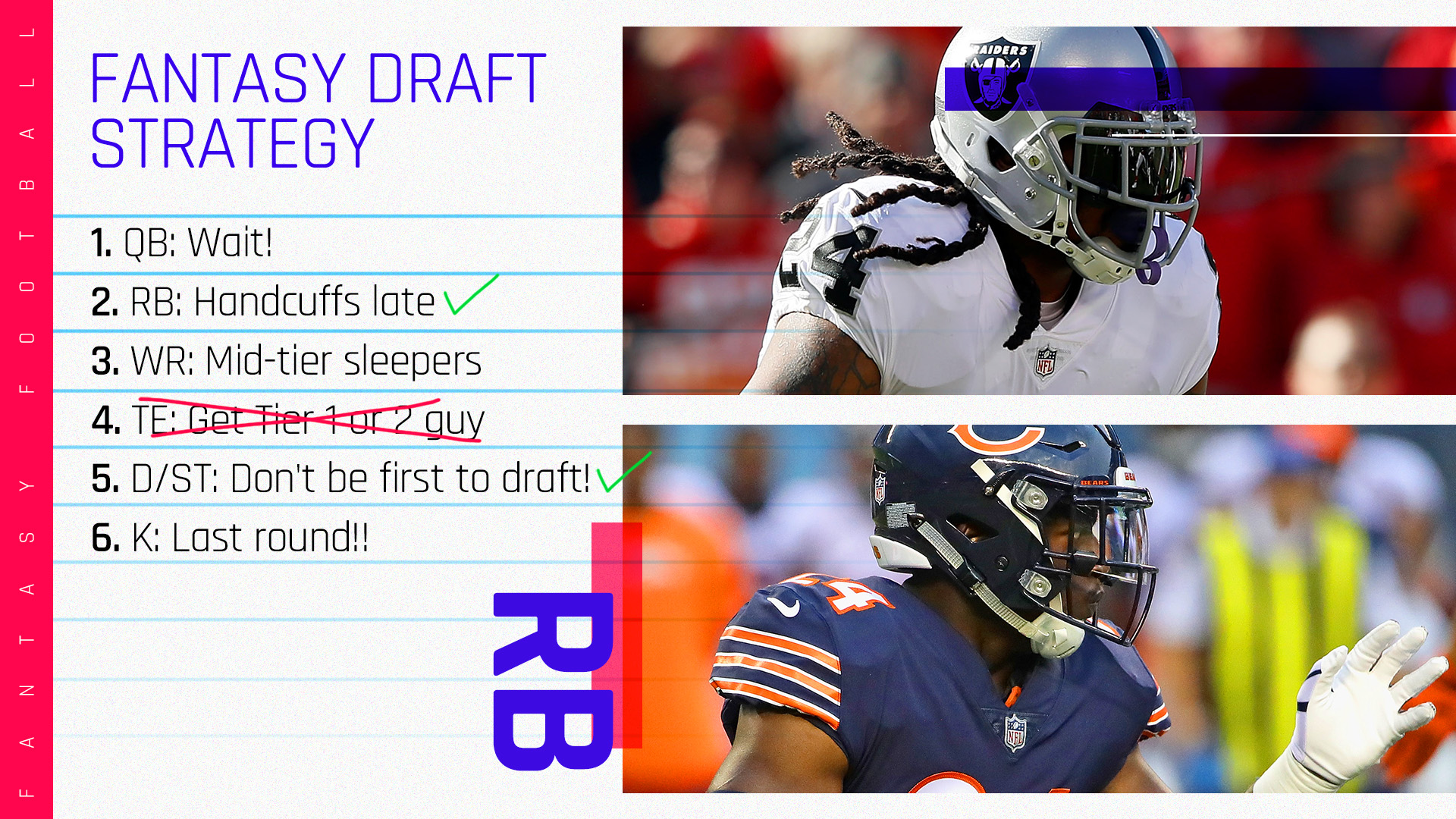 d9150c3c6 2018 Fantasy Football Rankings Tiers  Running back draft strategy ...