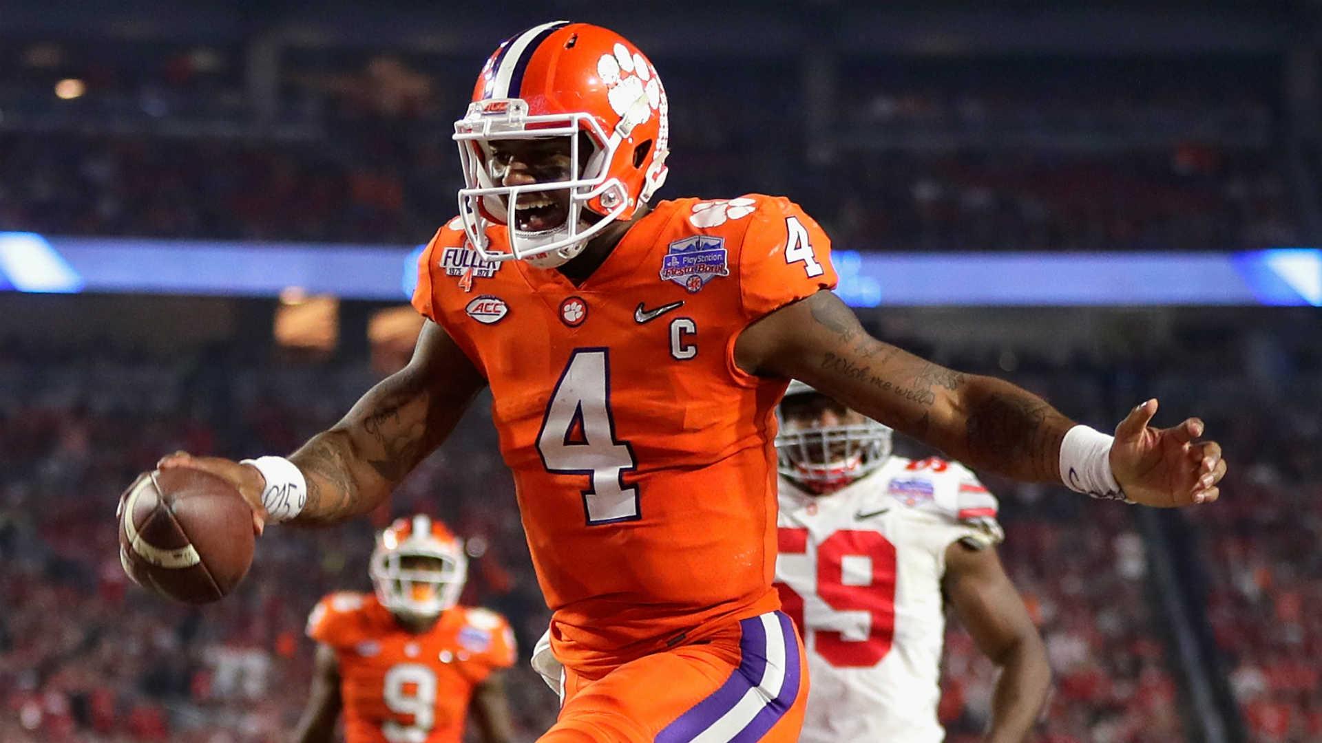 2ee8a44f591 Deshaun Watson not being top QB in 2017 NFL Draft is mockery ...