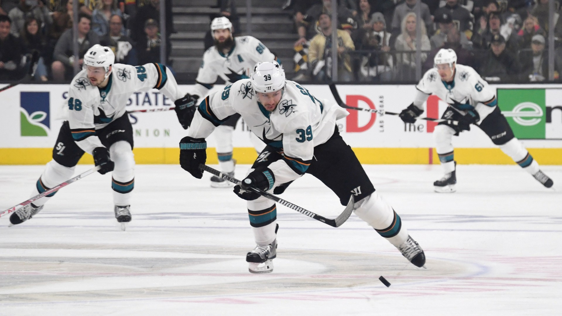 NHL playoffs 2019: Sharks' Logan Couture scores goal, loses