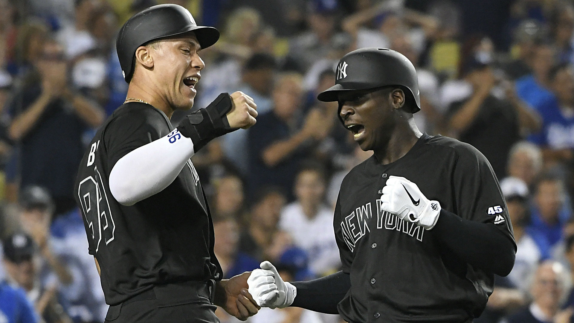 Yankees' power sources vs. Dodgers enjoyed rare night together