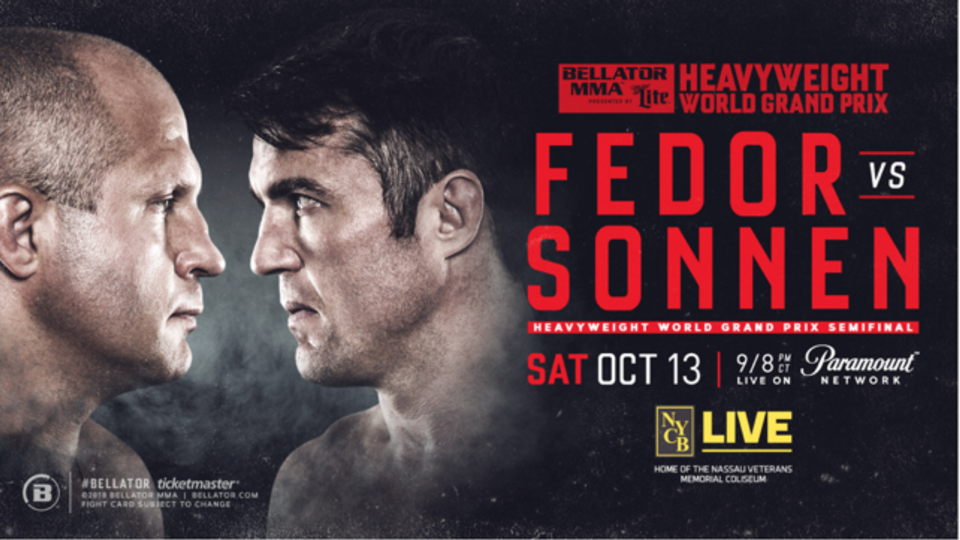 Chael Sonnen hijacks interview to confront Fedor Emelianenko before Bellator 208
