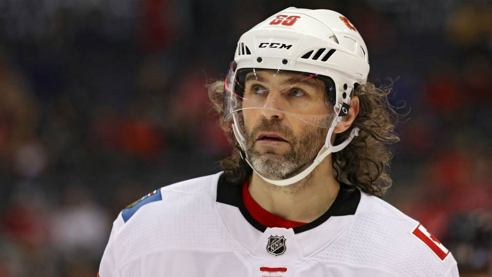 Flames' Jaromir Jagr says goodbye to NHL, assigned to HC Kladno in Czech Republic