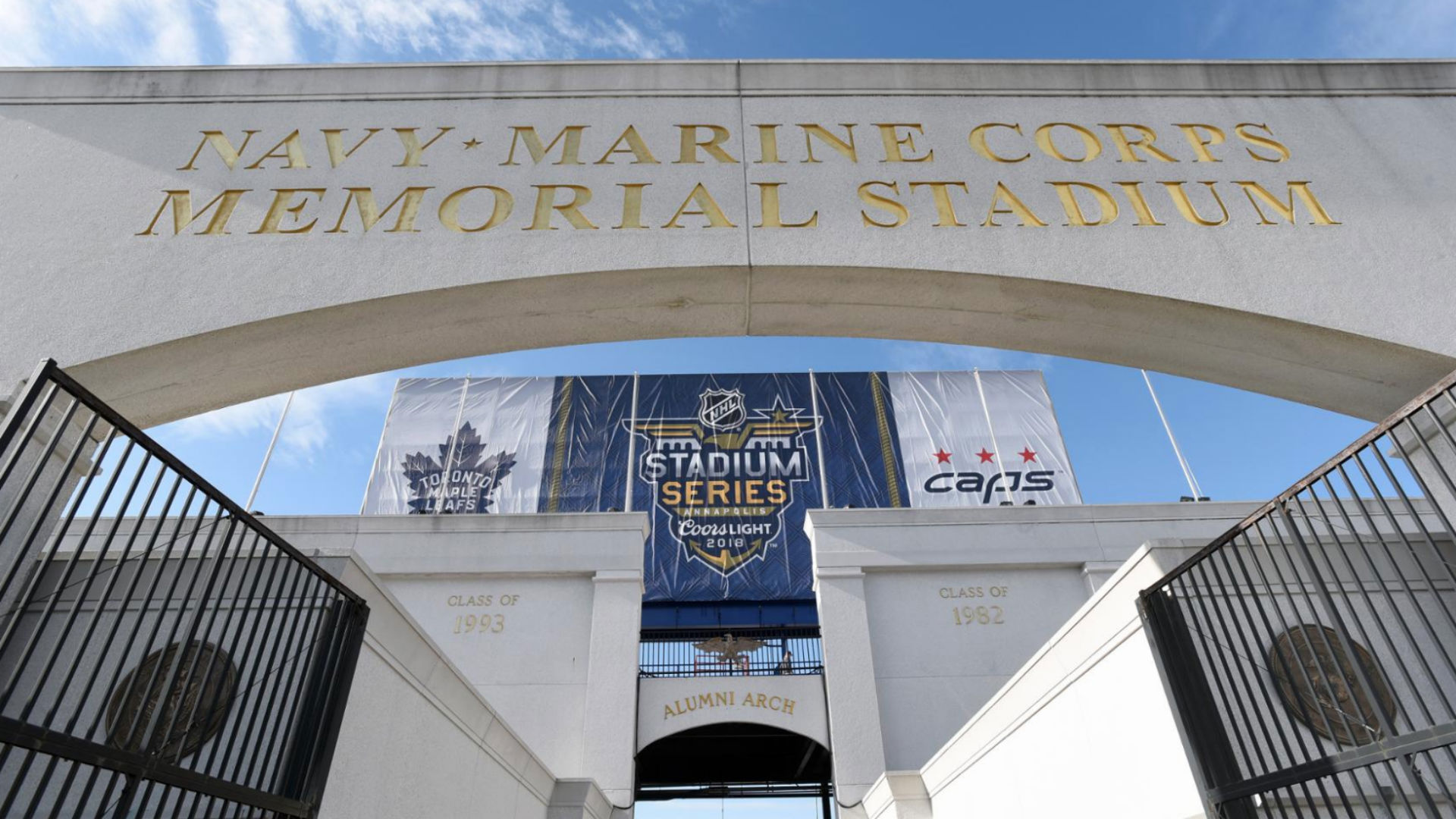 9072146fe NHL Stadium Series 2018: Wind rattling outdoor game at Naval Academy, but  hasn't blown it off schedule | Sporting News
