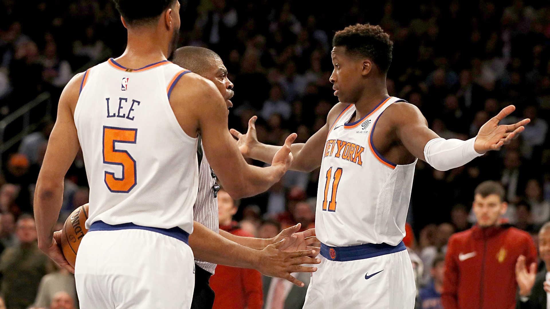 9a548ff5cbe Knicks rookie Frank Ntilikina shoves LeBron James  response to LBJ s  comments