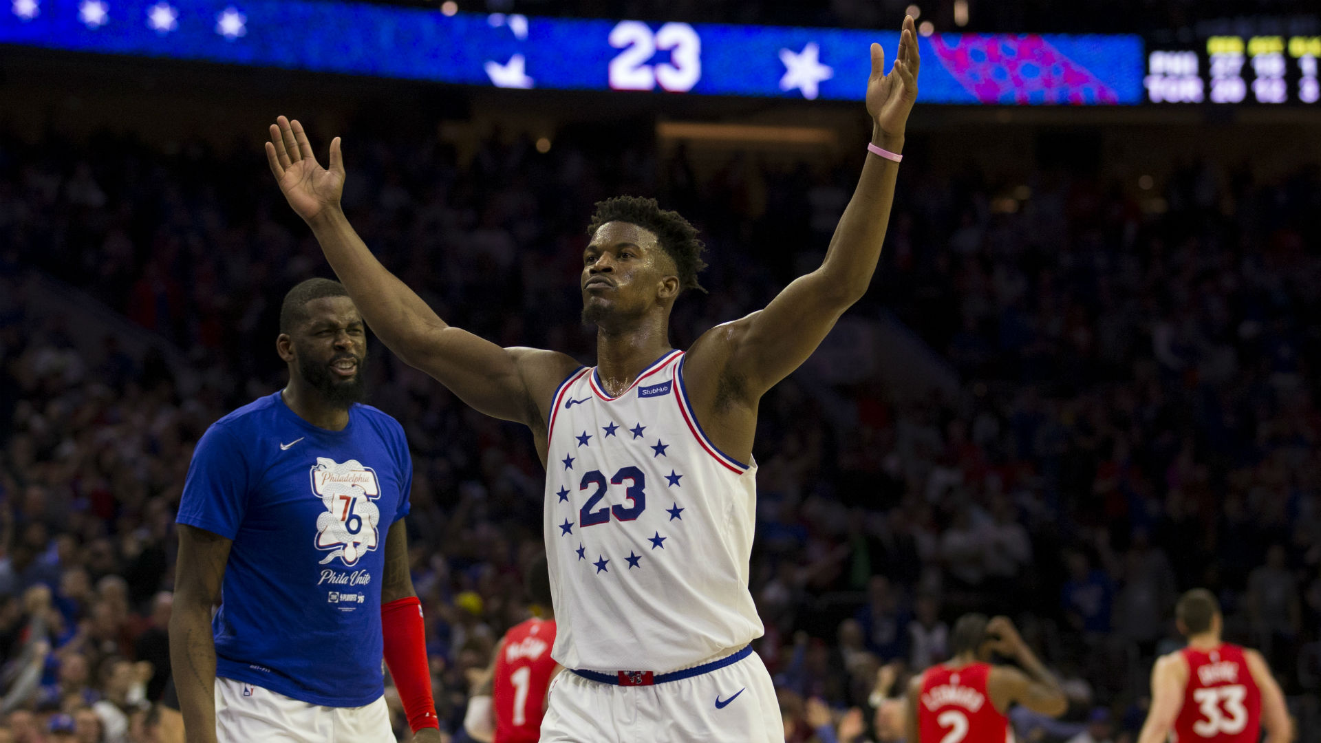 Image result for raptors vs 76ers 2019 playoffs Game 6