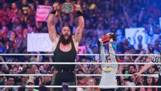 WWE レッスルマニア34 ブラウン・ストローマン ロウ タッグ王座戦