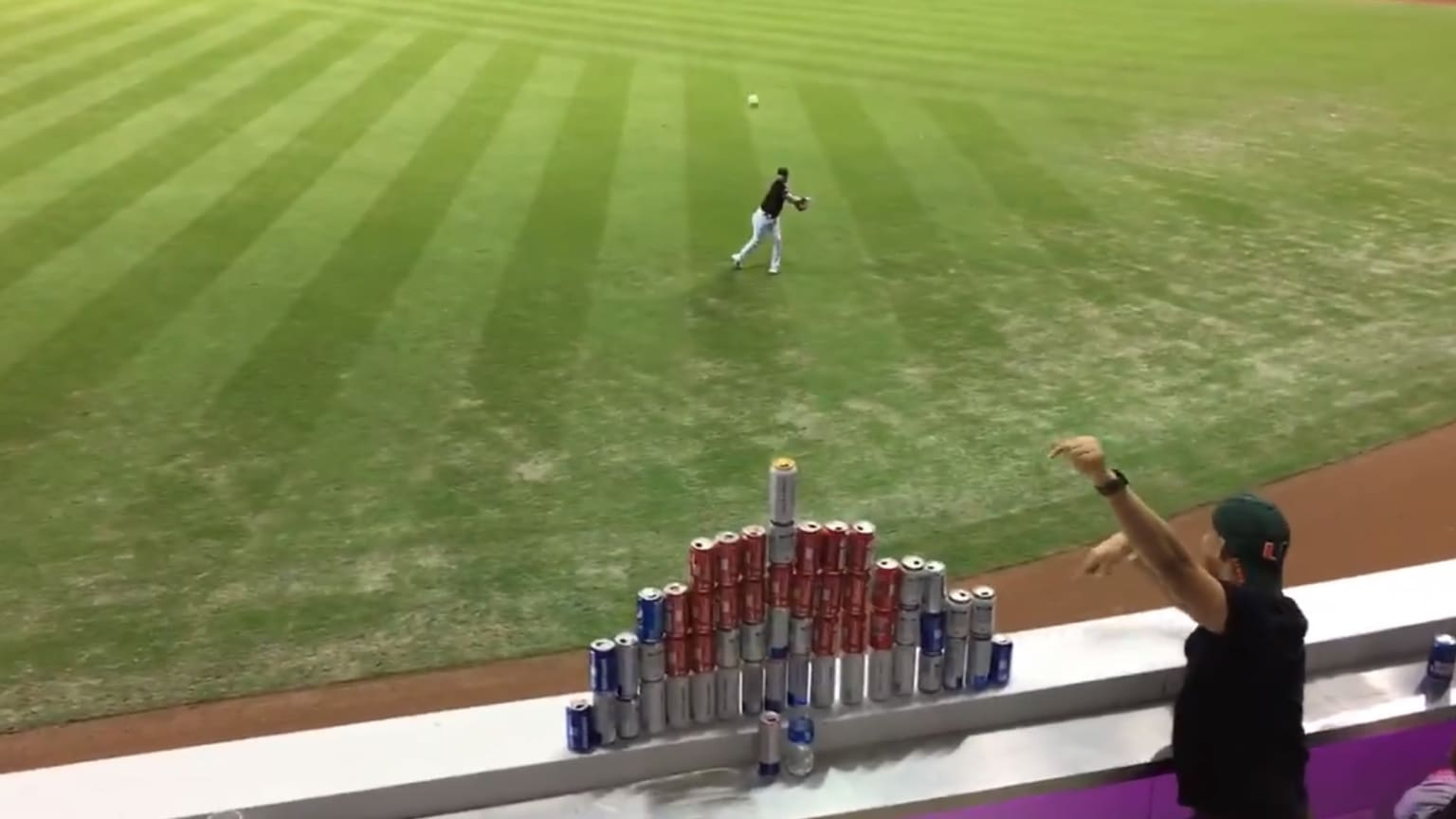 Austin Dean's beer can tower throw: The most detailed breakdown you'll find anywhere