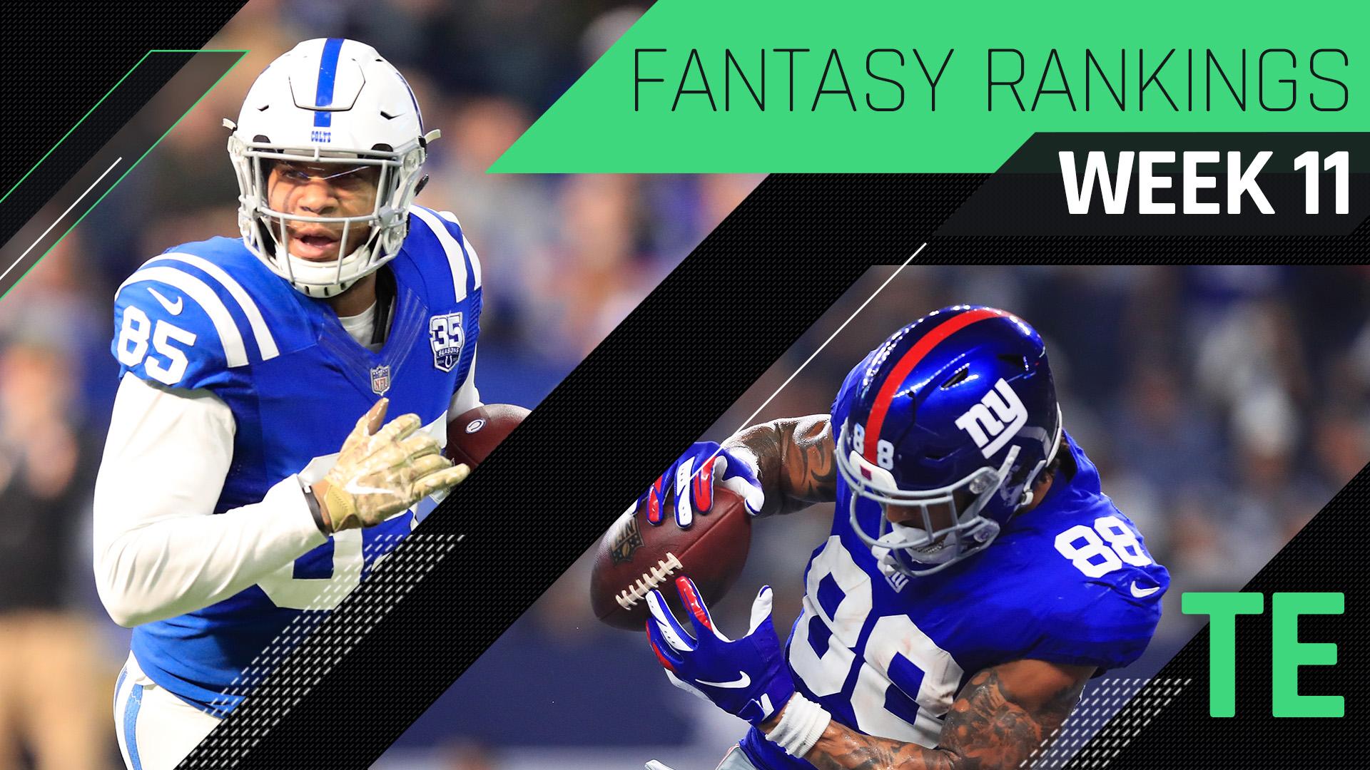 Week 11 Fantasy Rankings: TE