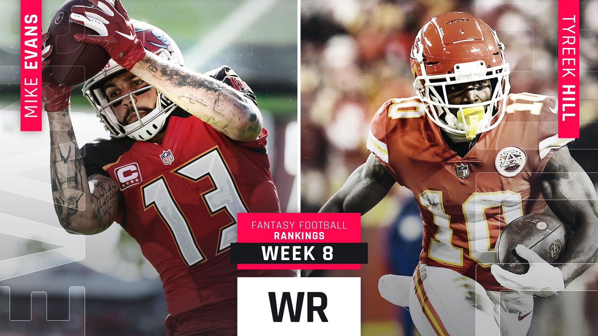 Week 8 Fantasy WR Rankings: Tyreek Hill, Julio Jones remain high despite injured QBs