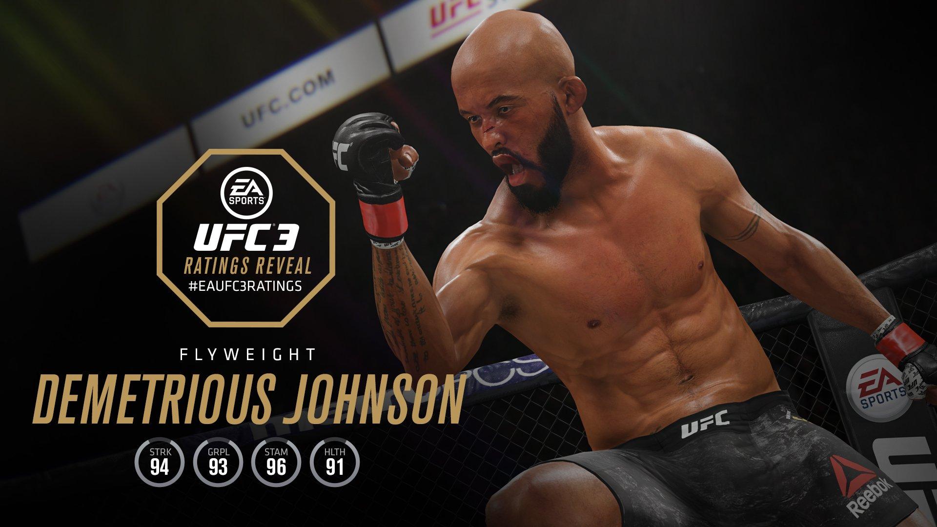 EA Sports UFC 3 Demetrious Johnson ratings
