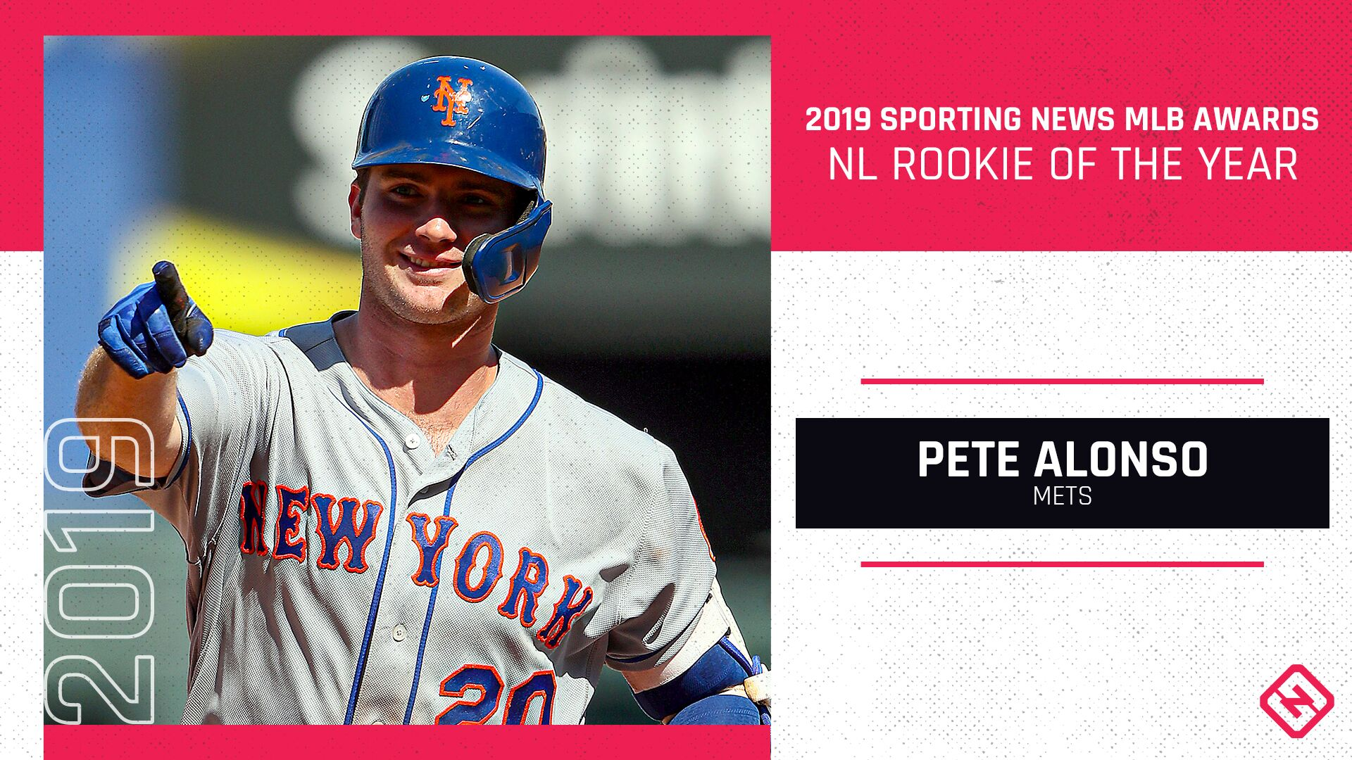 Mets' Pete Alonso voted 2019 Sporting News NL Rookie of the Year