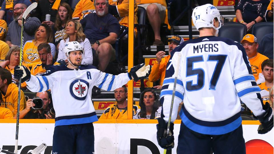 NHL playoffs 2018: Jets' Scheifele sets record with seven road goals in single series