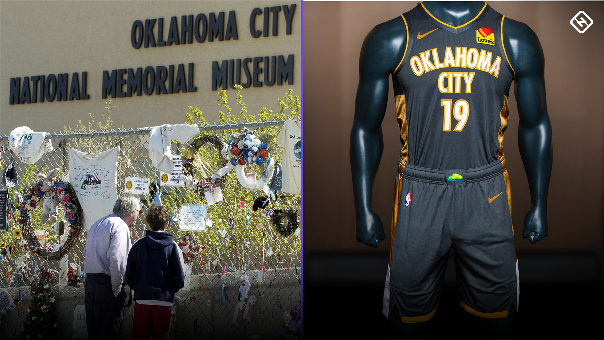 finest selection b5c27 37b53 Thunder honor victims of Oklahoma City bombing with new City ...