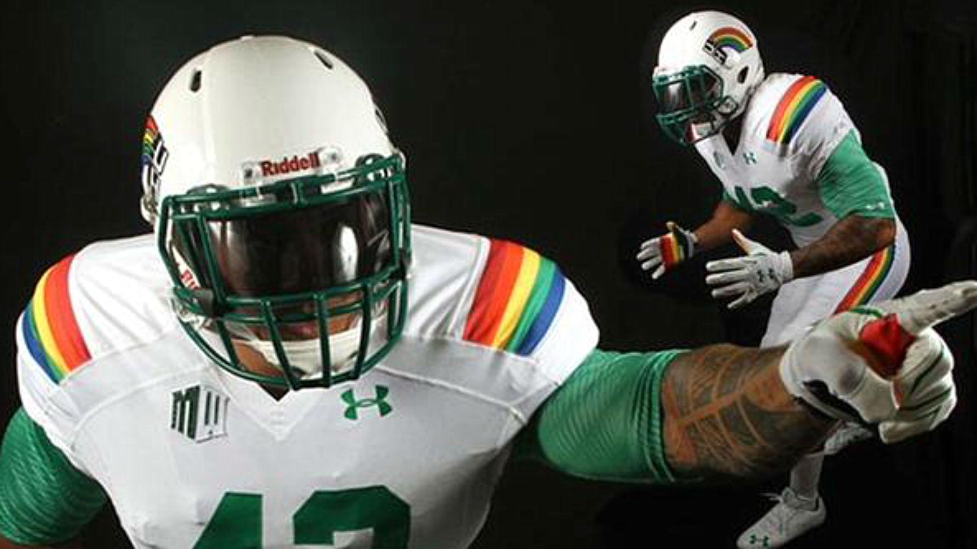 newest 03e6b 03110 Hawaii unveils retro 'Rainbow' uniforms for Ohio State game ...