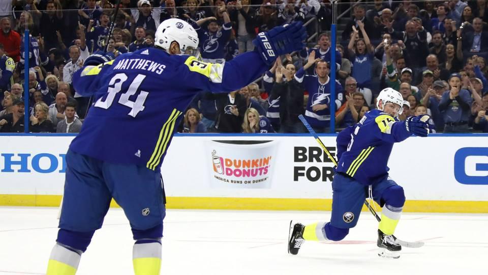 NHL All-Star Game 2018: Auston Matthews, Jack Eichel reenact epic 'good objective' celebration