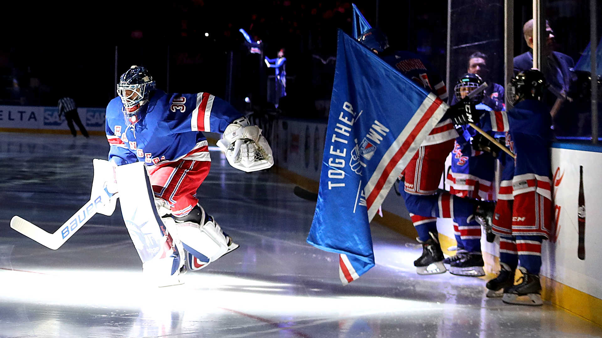 Rangers hold moment of silence to honor victims of New York attack