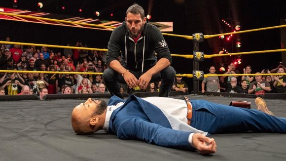 WWE, NXT, #487, ガルガノが北米王者リコシェを蹴り倒す