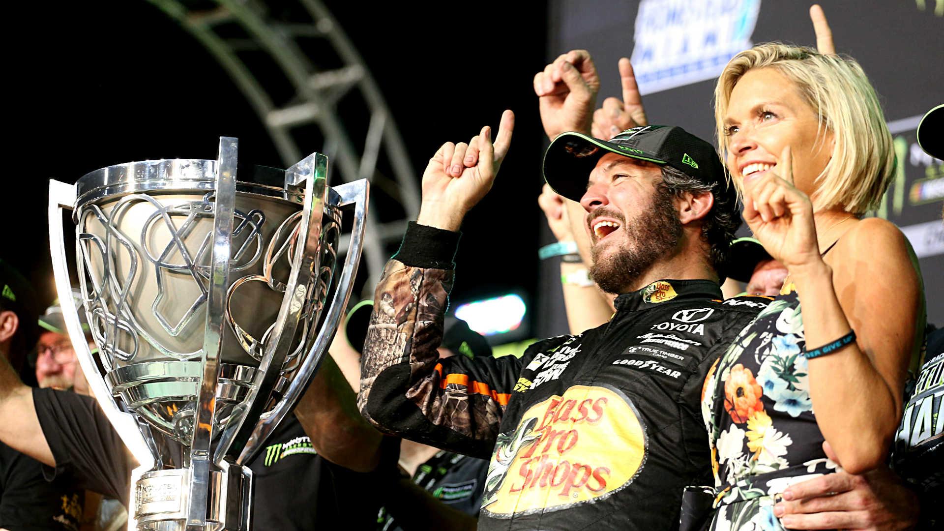 Martin Truex Jr. holds off Kyle Busch for Monster Energy NASCAR Cup Series title