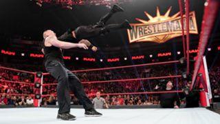WWE, ロウ, #1340, 結果, レスナーがランブル戦覇者ロリンズを粉砕