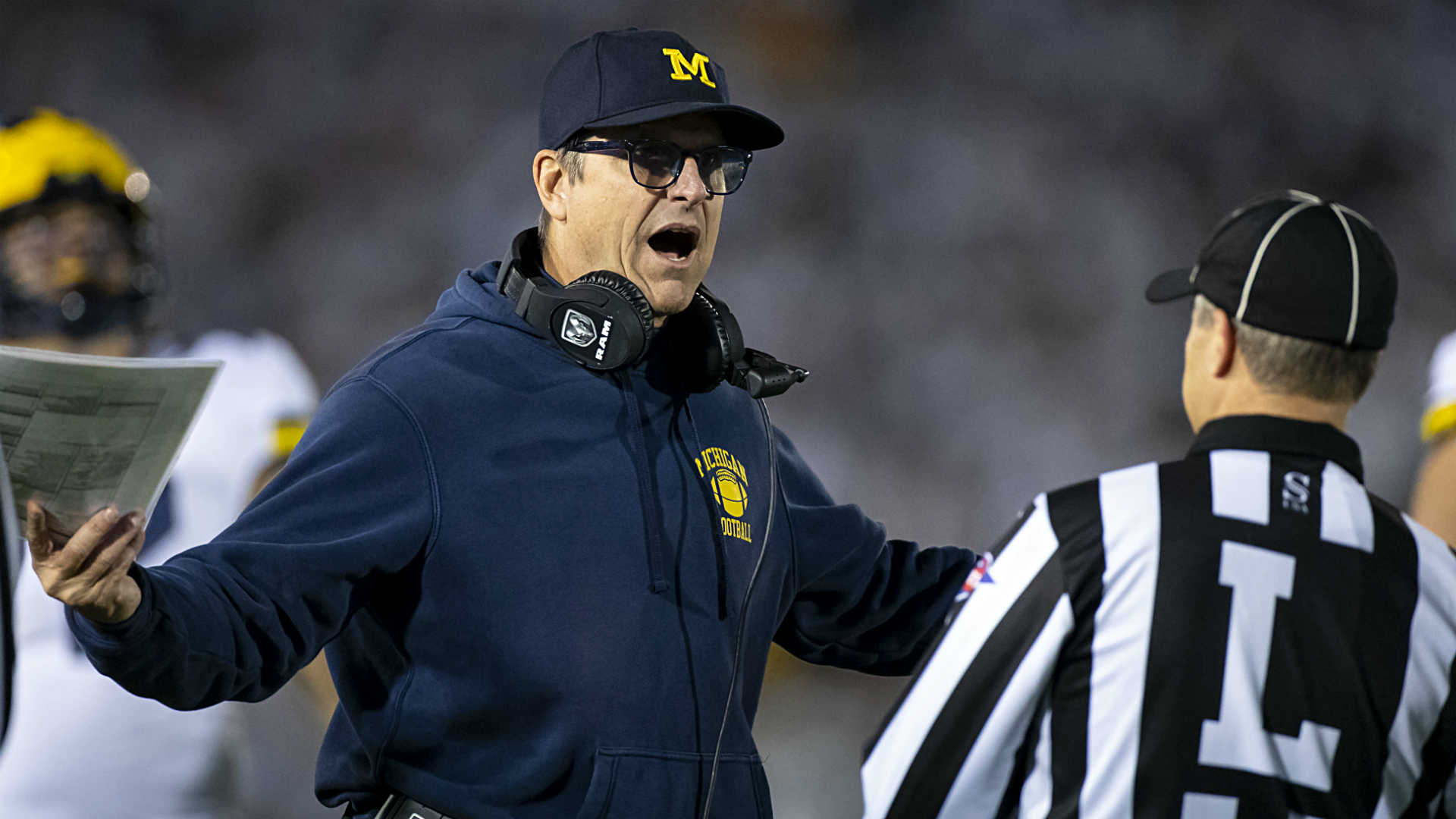 Jim Harbaugh's running gag: Michigan's offense against top-10 opponents