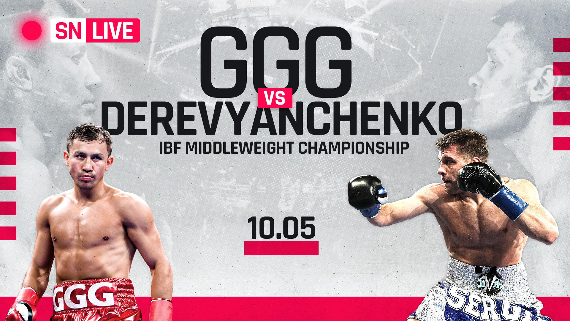 Image result for Golovkin vs Derevyanchenko Live