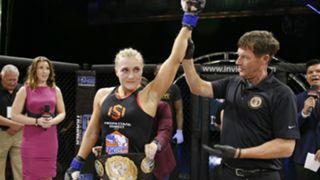 Yana Kunitskaya winning Invicta FC bantamweight title