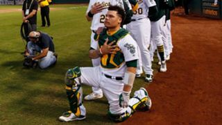 A's Bruce Maxwell