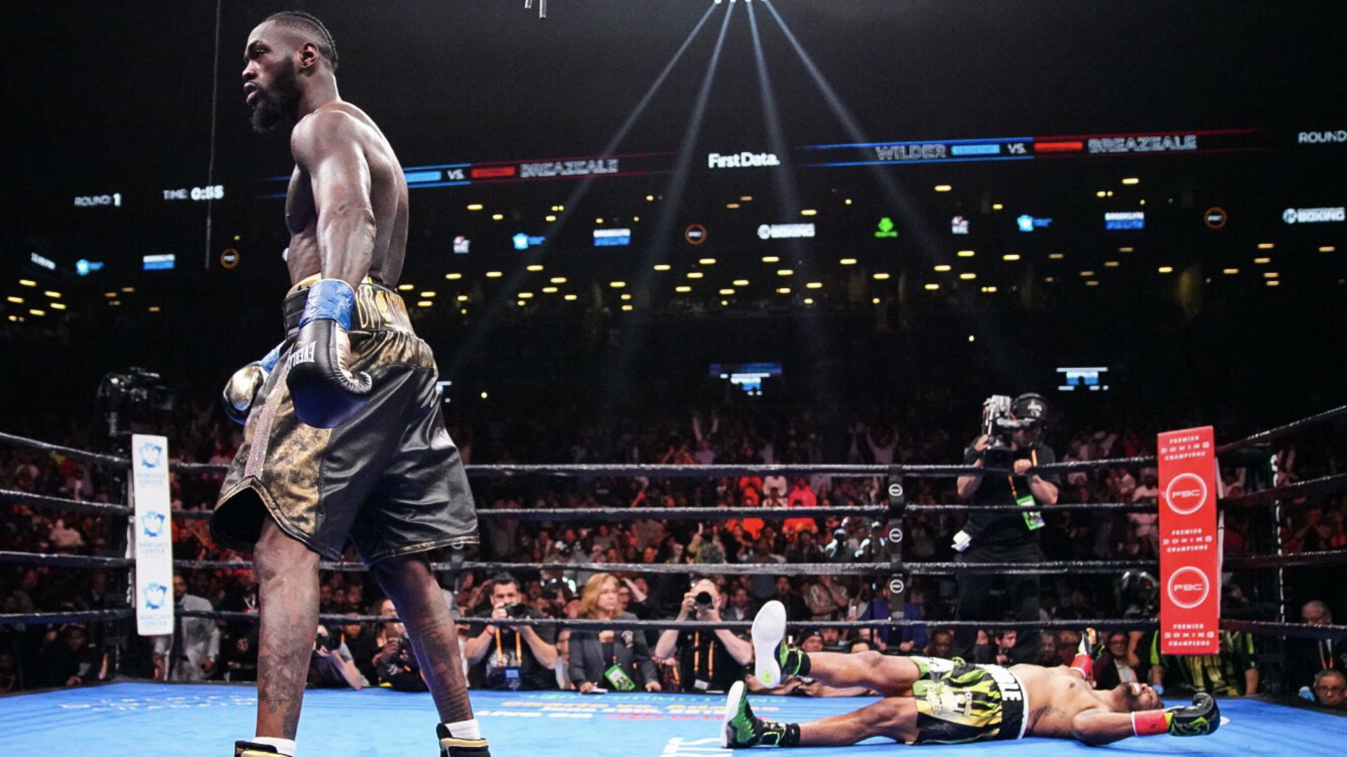 Deontay Wilder Vs Dominic Breazeale Results Wilder Retains Wbc