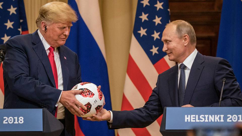 Report: Putin's soccer ball for Trump had transmitter chip