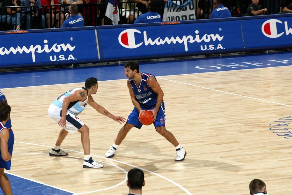 Peja Stojakovic Serbia FIBA