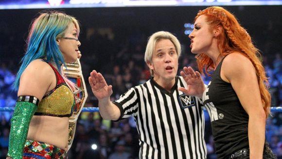WWE, スマックダウン, #1012, SD王者アスカと挑戦者ベッキー