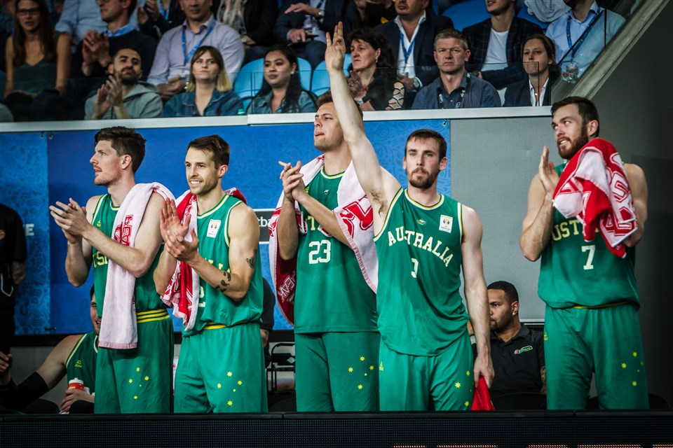 Australia players celebrating