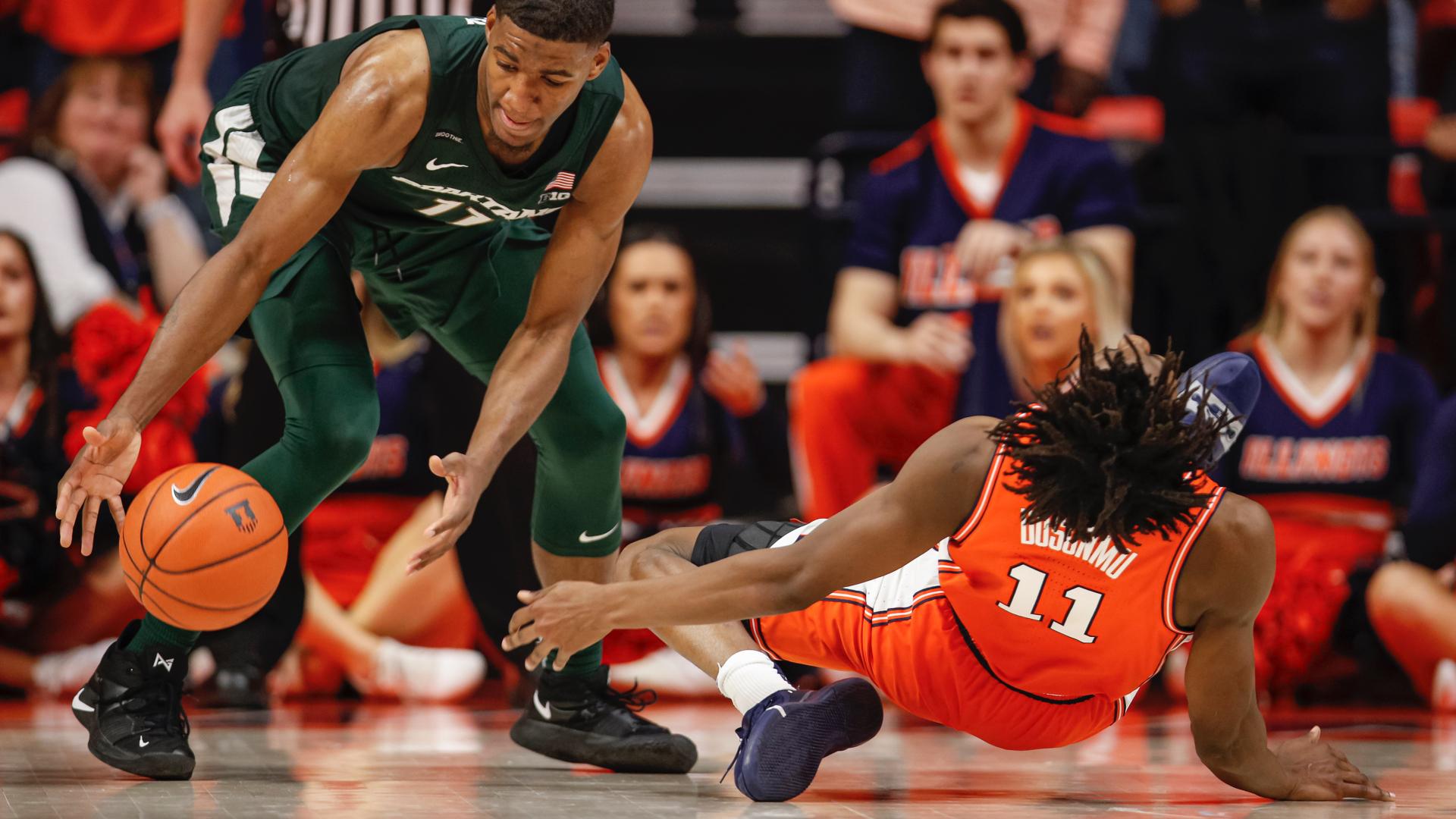 Illinois pierde el juego de baloncesto, el máximo goleador Ayo Dosunmu en cuestión de segundos 2