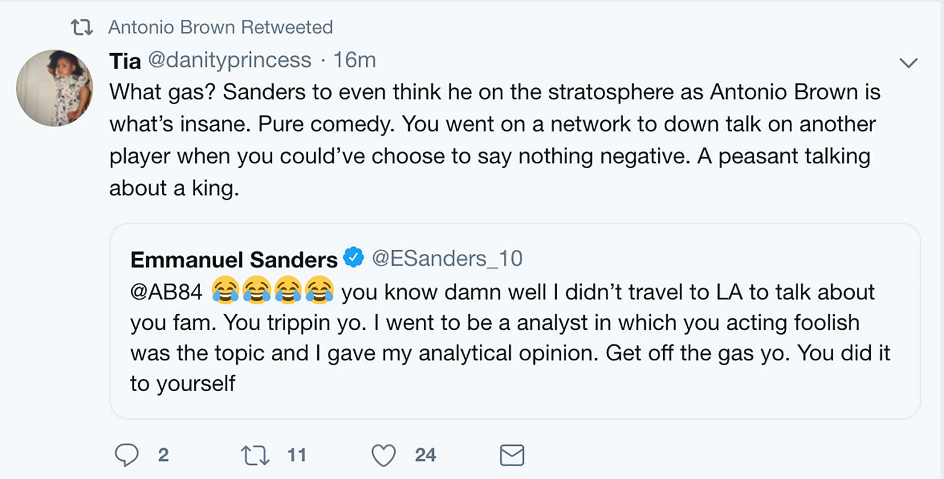 Here S Why Antonio Brown Is Feuding With Emmanuel Sanders