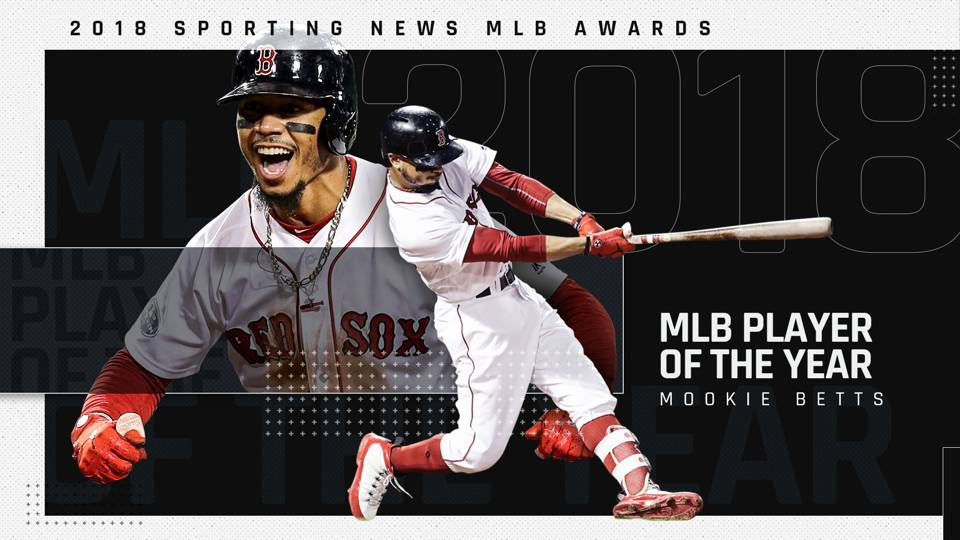 Red Sox star Mookie Betts named Sporting News MLB Player of the Year