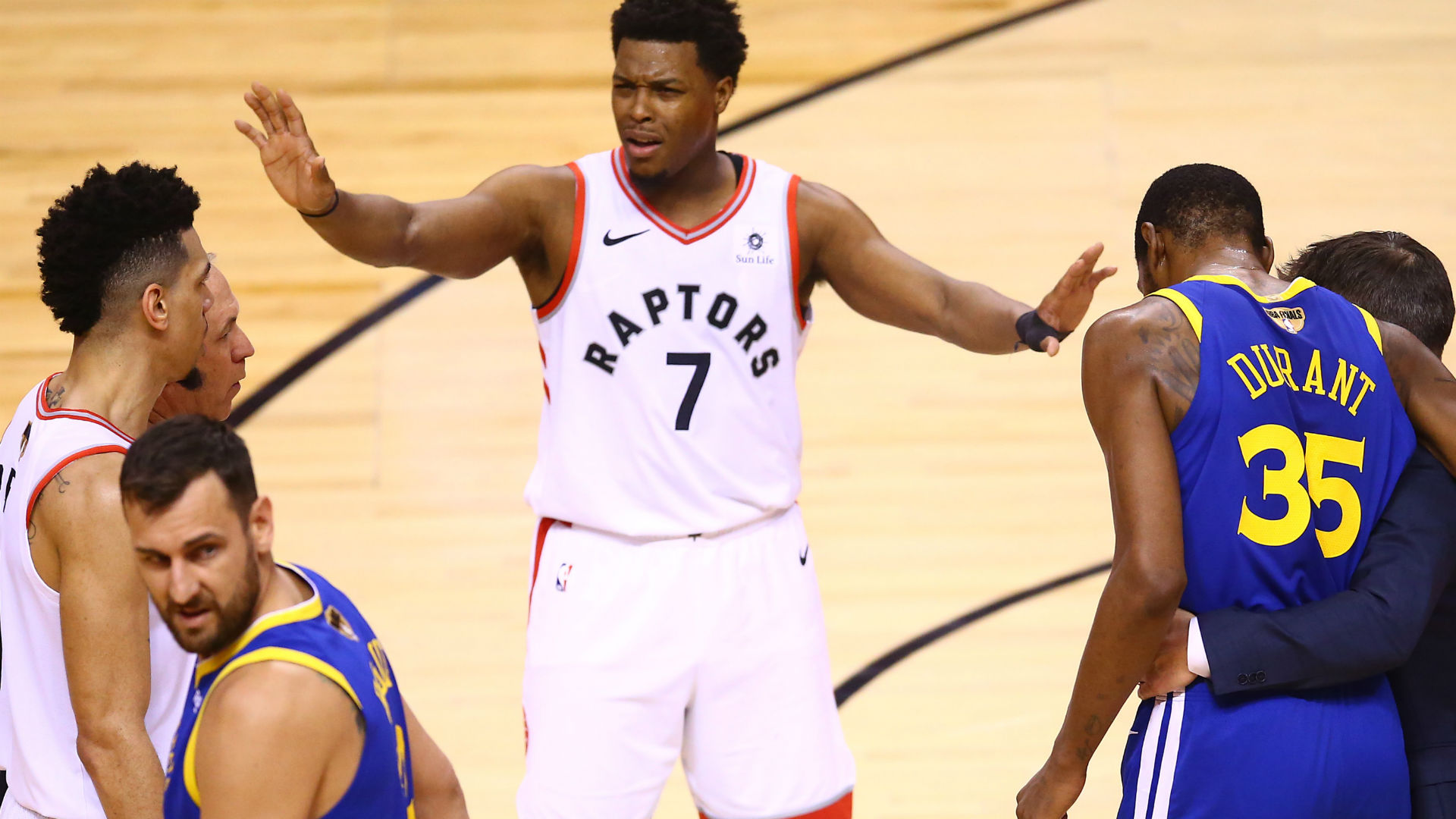 NBA Finals 2019: Raptors players quiet classless fans who cheered Kevin Durant's injury