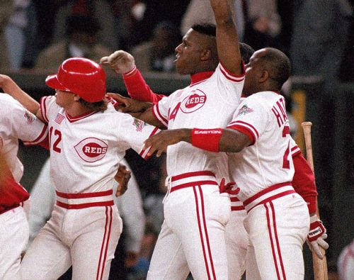 3d77c2d67 The Reds are wearing 1990 throwback uniforms  no buttons
