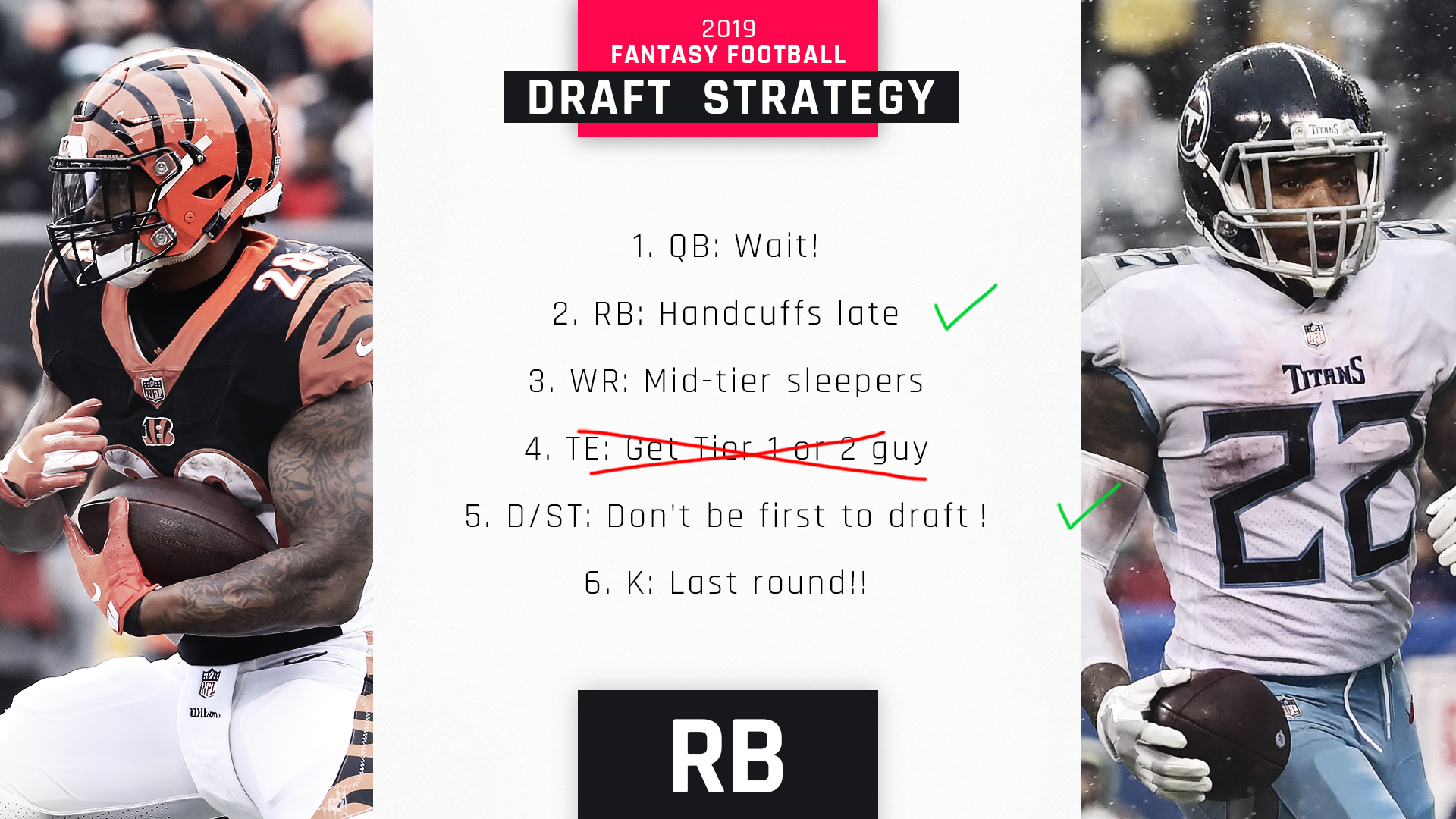 2019 Fantasy Tiers: Draft strategy for top RBs, sleepers in