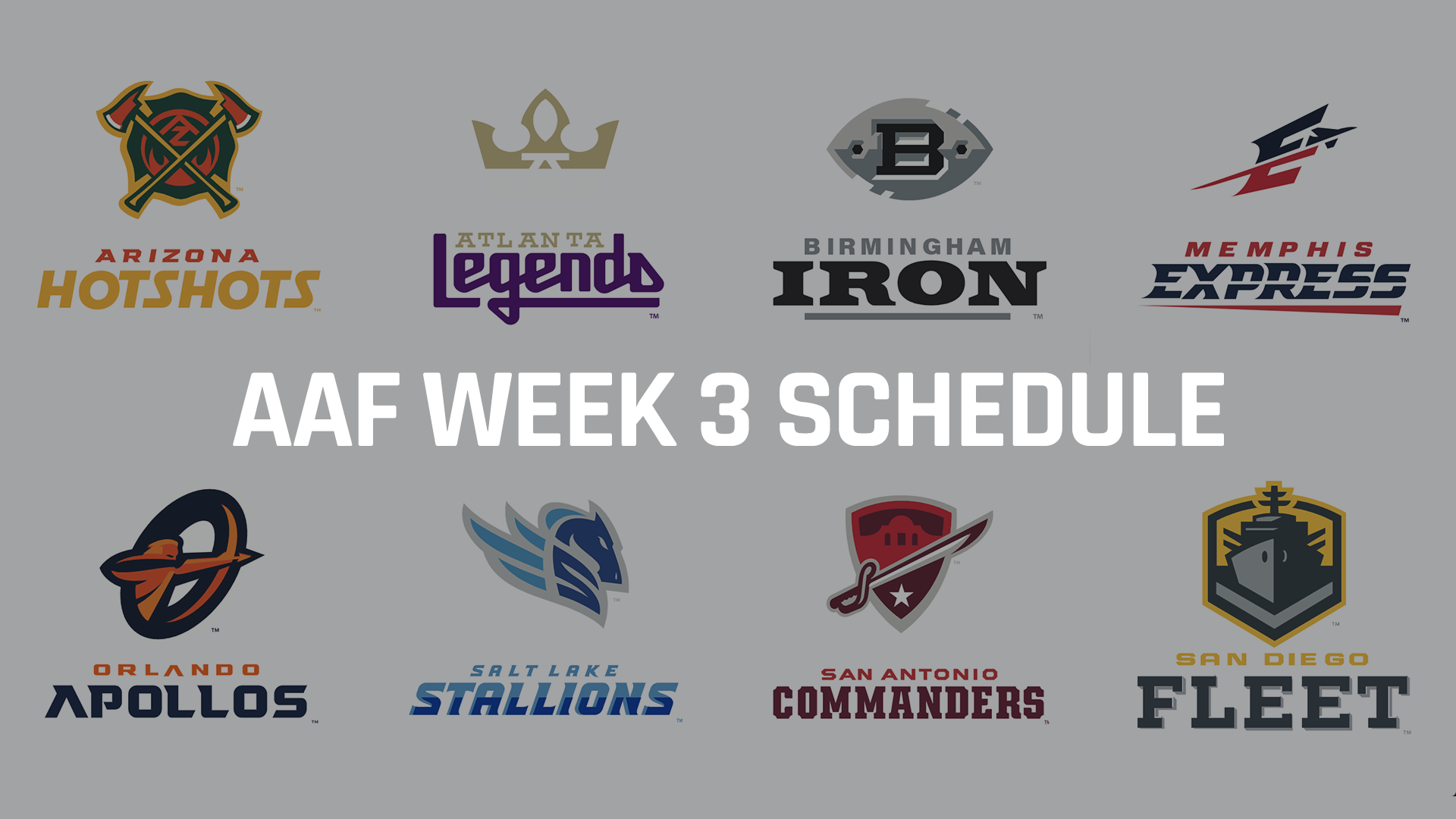 Alliance of American Football schedule: Odds, line