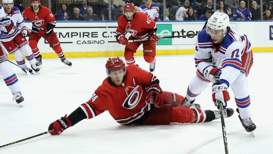 Canes defenseman Jaccob Slavin saves three goals in win over Rangers