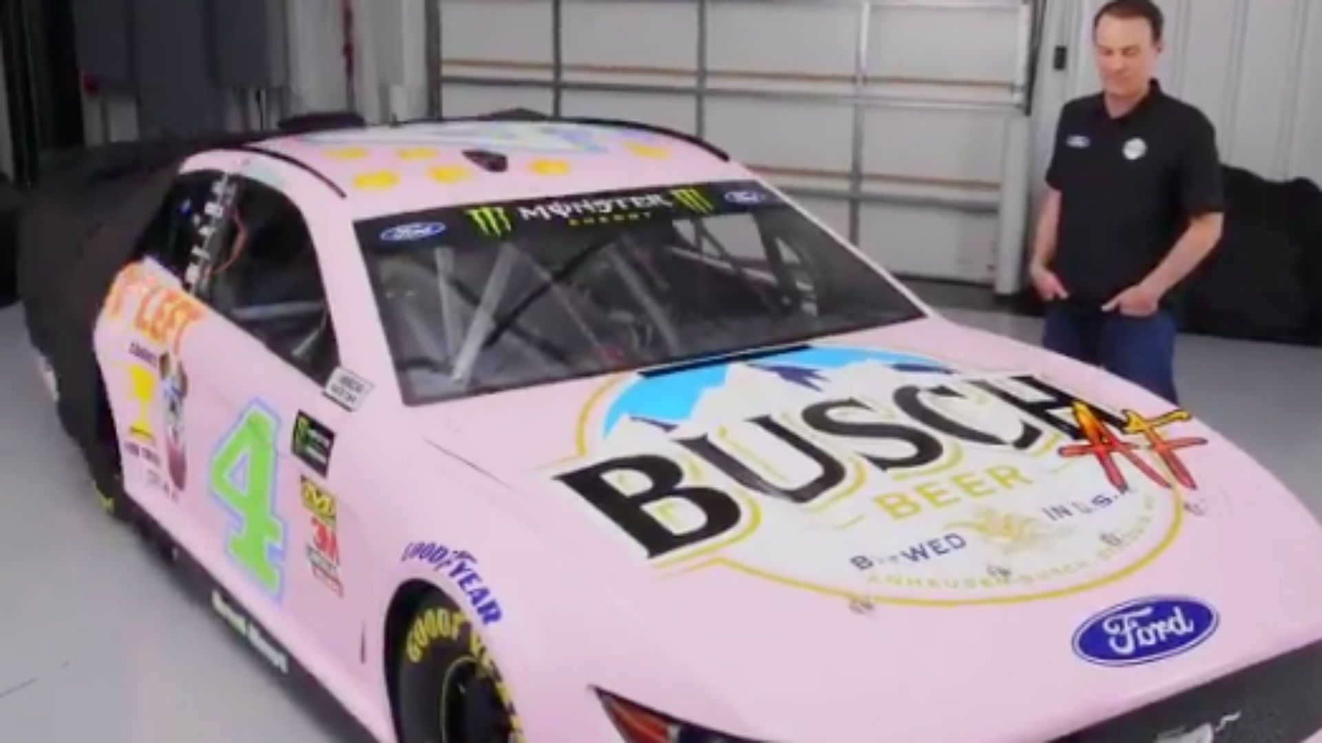 Kevin Harvick really hates his 'millennial' themed car for All-Star race