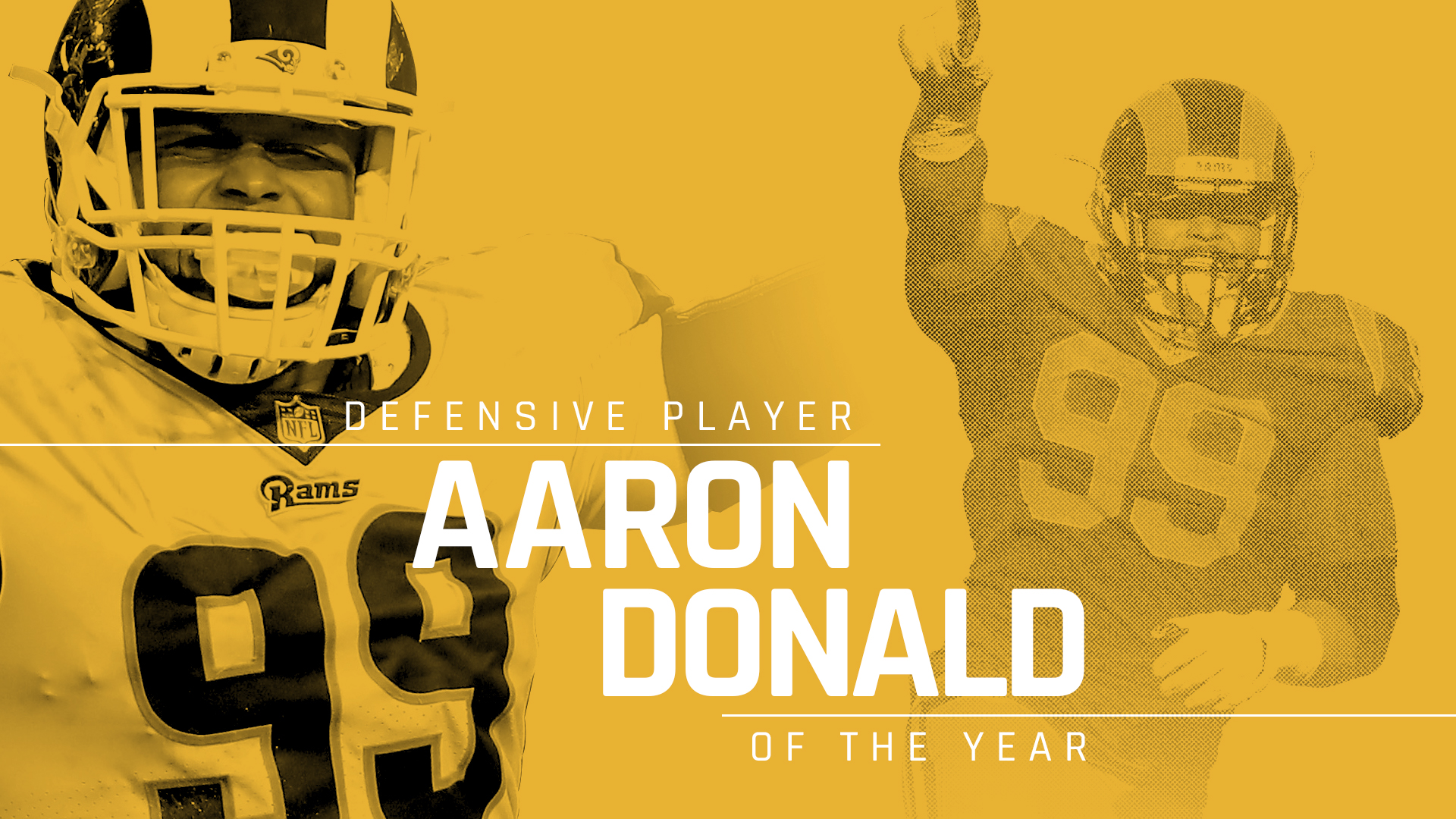 95cbee050 NFL players vote Aaron Donald Sporting News Defensive Player of the Year  for 2018 | Sporting News