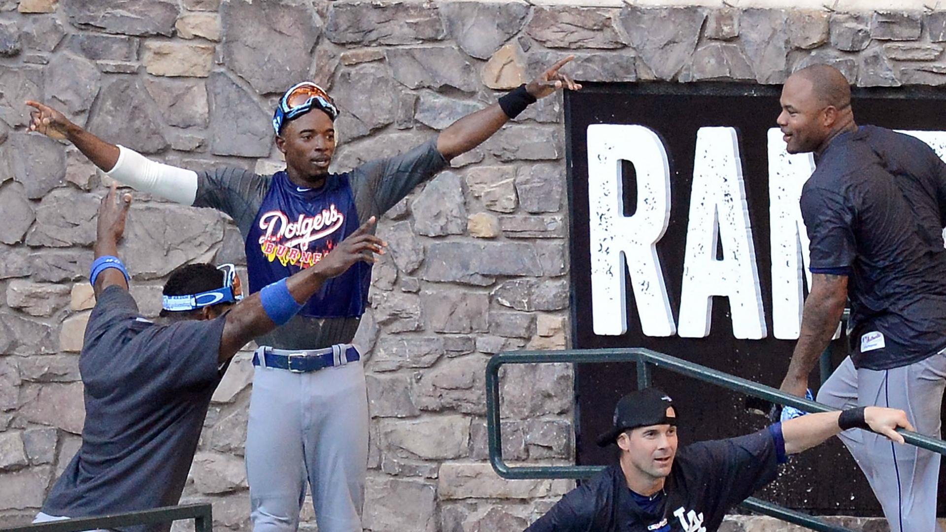 Sept. 19, 2013: Dodgers celebrate NL West crown in Diamondbacks' pool