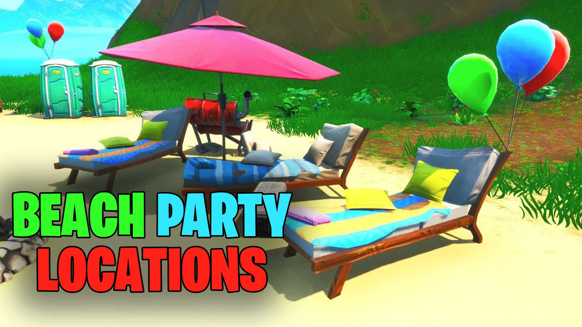 All Beach Party locations needed for Fortnite's 14 Days of Summer challenge