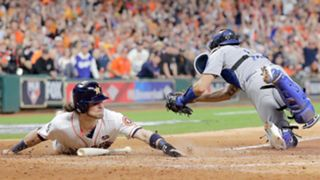 Scenes from Game 3 of the World Series