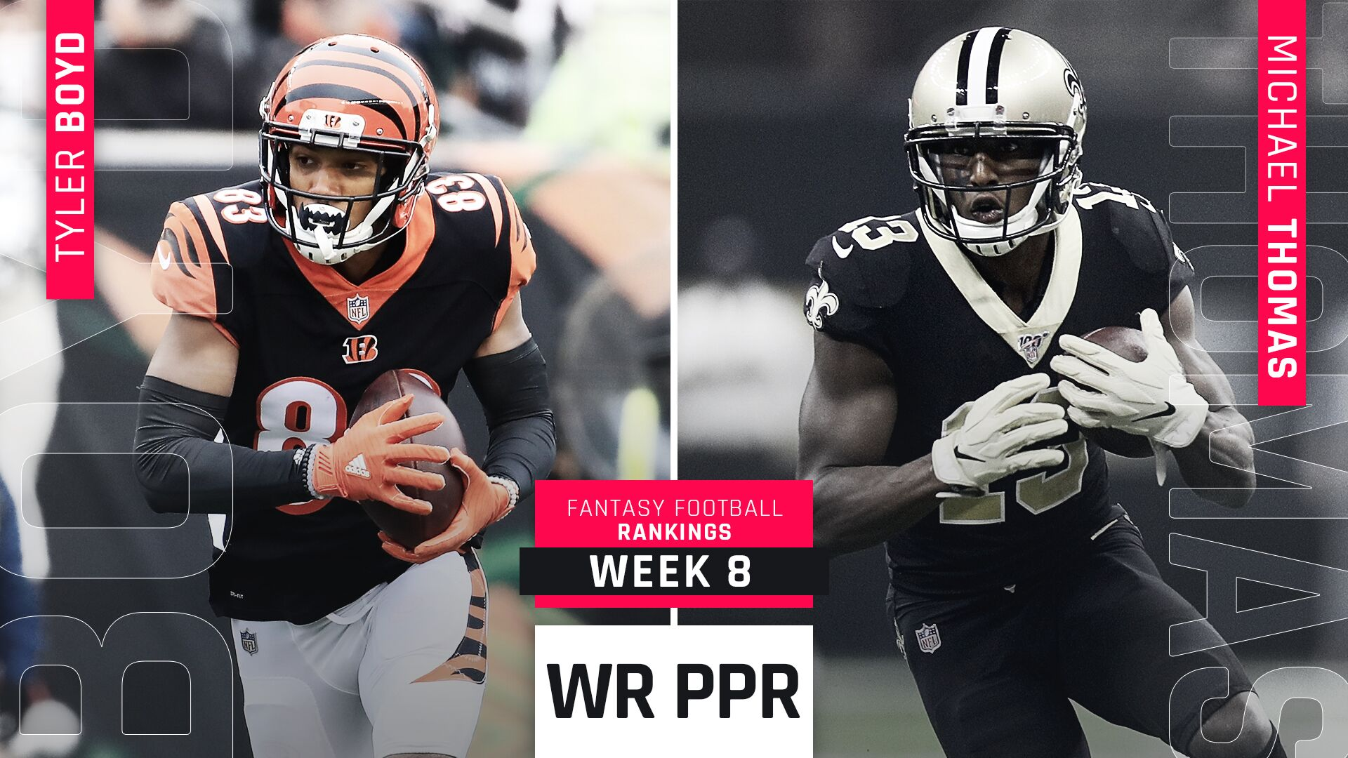 Week 8 PPR Rankings: WR